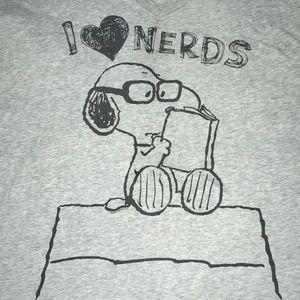 Snoopy nerdy tee